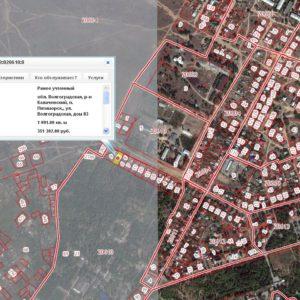 карта прямоугольный участок